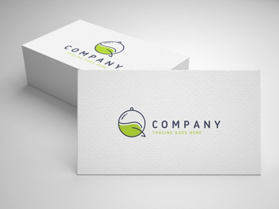 eco food chat logo template
