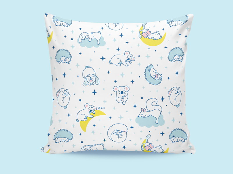 pillowcase pattern by Iuliia S. on Dribbble