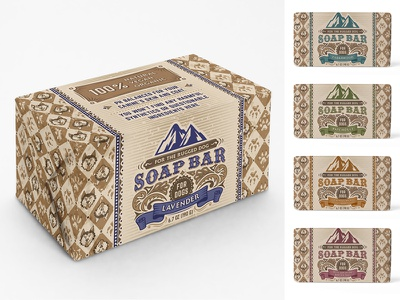 Soap bar for dogs retro vintage pattern illustration packaging design print design graphic design adobe photoshop adobe illustrator