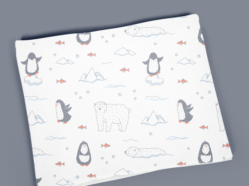 Baby Muslin Swaddle Blankets pattern by Iuliia S  on Dribbble