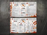 Menu design for hipster restaurant