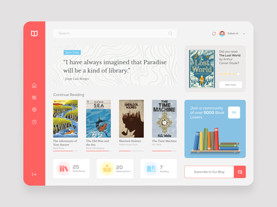 EBook UI Dashboard book web book app library app library web ui ebook layout minimal tablet app ui design web design tablet book ebook app ebook website ebooks ebook design ebook