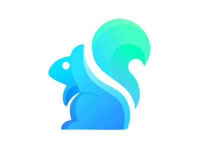 Squirrel Abstract Logo | Modern Logo Design blue and green uiux illustraion icon symbol logo graphic design abstract art best shot logo design squirrel logo branding brand identity gradient best logo mark app icon colorful abstract logo squirrel