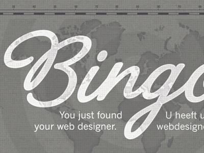 Bingo - new portfolio design