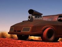 Mad Max Interceptor - 3D Cartoon