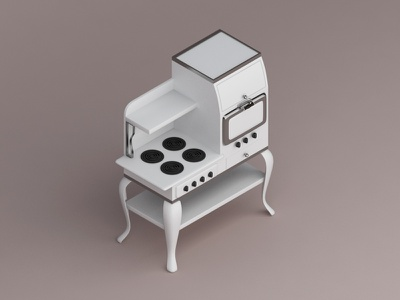 Hotpoint Electric Range, 1922 konceptsketcher render view isometric 3d appliances home