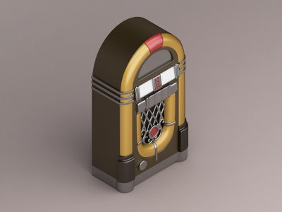 Model 1015 jukebox, 1946 konceptsketcher 1015 model iconic view isometric music design 3d jukebox