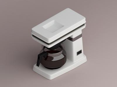 Mr. Coffee Machine, 1985 konceptsketcher vray isometric 3d illustration design 1985 mr machine coffee