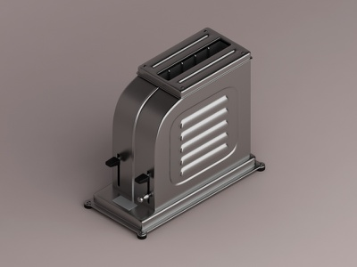 Toaster, 1926 iconic konceptsketcher 3d vray isometric design home appliances machine toaster