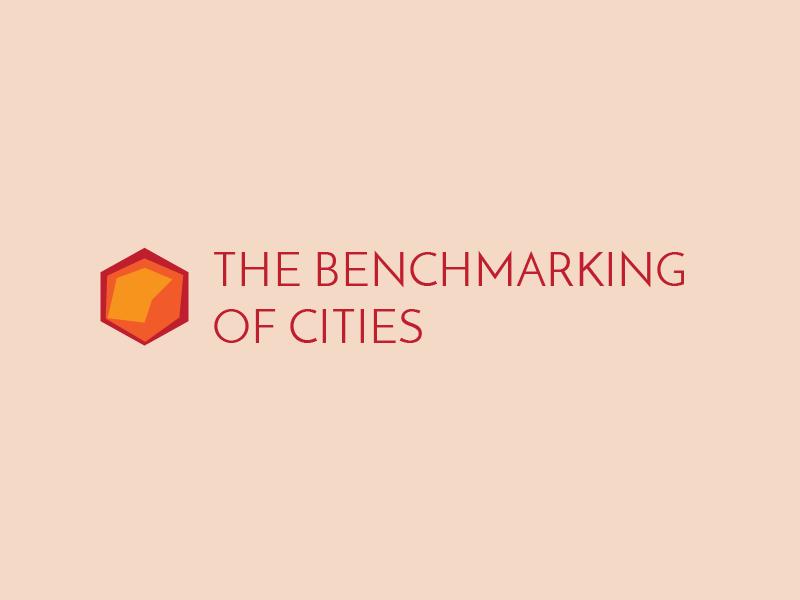 THE BENCHMARKING OF CITIES branding design typography logo ui