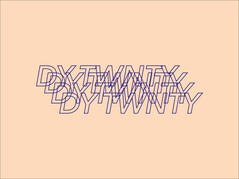 Day 20 typeandcolorchallenge logo vector typography experiment