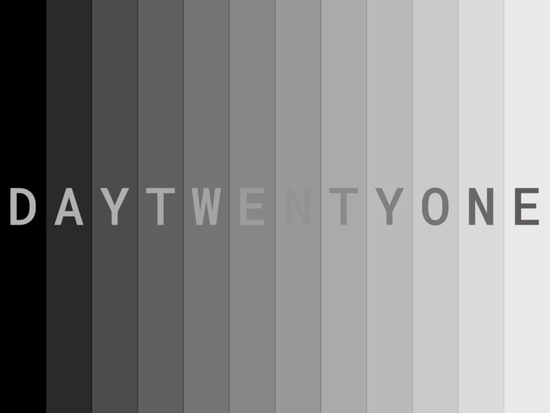 Day 21 typeandcolorchallenge vector typography experiment