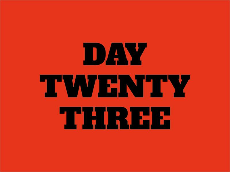 Day 23 typeandcolorchallenge vector typography experiment