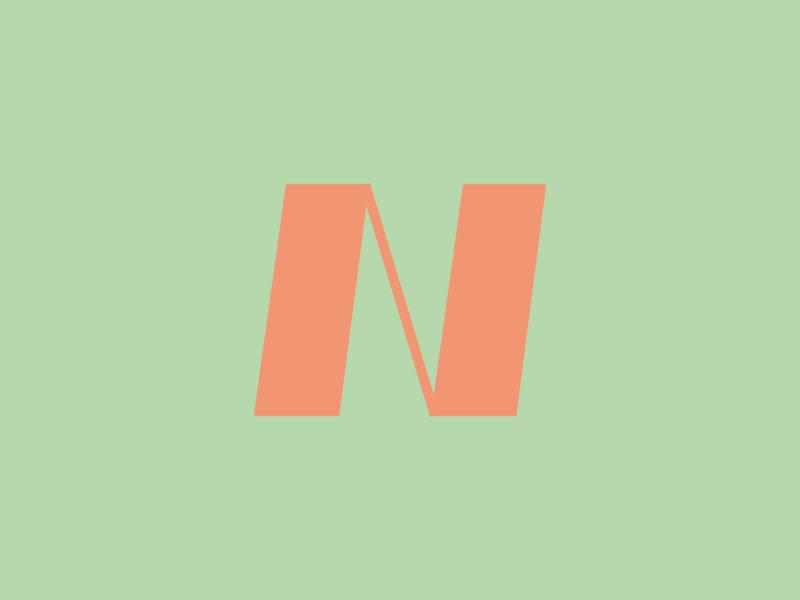 Day 14 - N n branding letter type design typeandcolorchallenge vector typography experiment