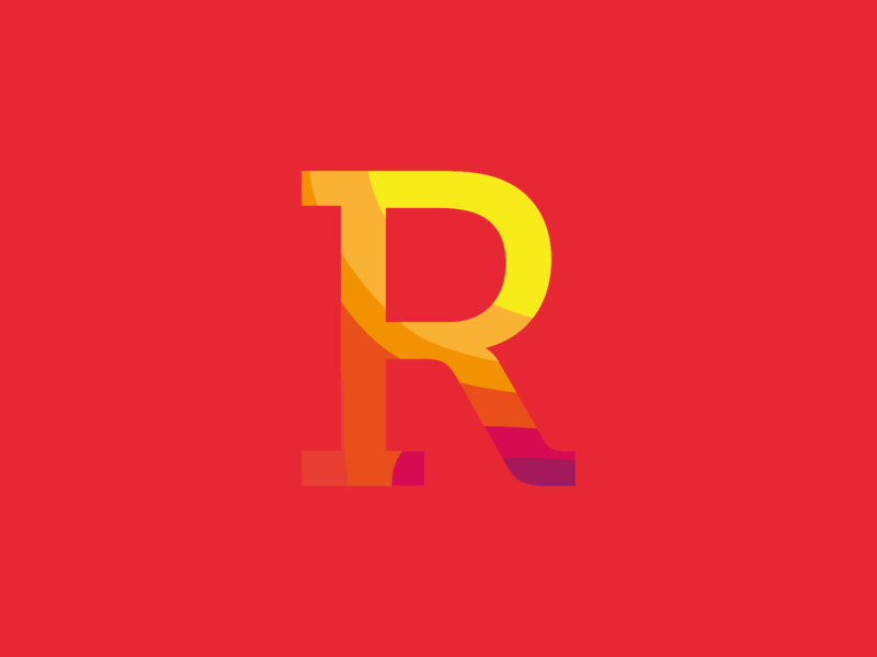 Day 18 - R r red pattern gradient letter type logo design typeandcolorchallenge vector typography experiment