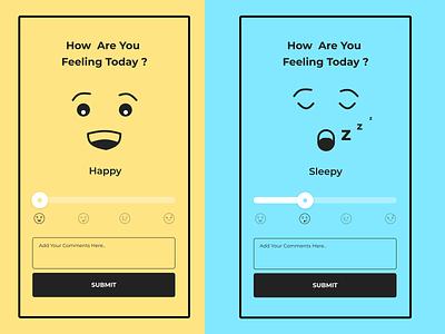 Emotional slider illustration simple graphical design clean ui uidesign design