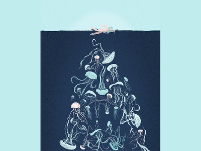 Jellyfish - good or evil? press magazine jellyfish illustration editorial article