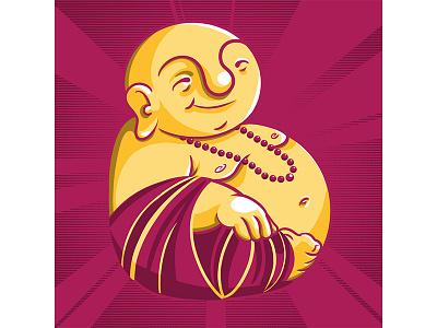 #36daysoftype - B is for Buddha buddha type illustration digital illustration