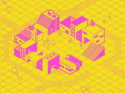 #36daysoftype - C is for City illustration isometric digital illustration