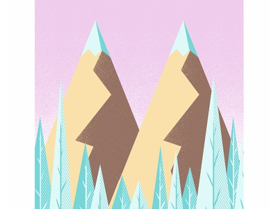 #36daysoftype - M is for Mountains mountains type illustration digital illustration