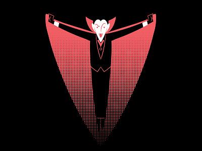 #36daysoftype - V is for Vampire character design digital illustration type illustration