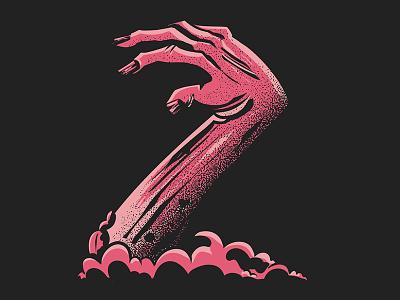#36daysoftype - Z is for Zombie zombie digital illustration type illustration