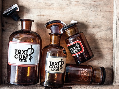Branding: 'Toxicum' Medical Toxins toxins toxicum staff of the aesculapian symbol snake pharmacy medicine medical toxins medical products fictive pharmacy fictive brand branding