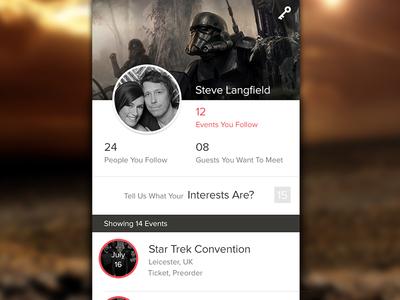 Profile ux ui ipad iphone follow profile android ios app