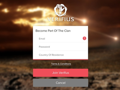 Join The Clan ux ui android ios app ipad iphone up sign register