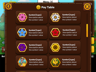 Pay Table icons icons menu iphone android ios beehive game