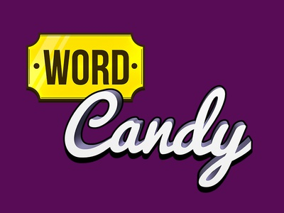 Game logo concept v1 word candy android ios iphone concept logo game