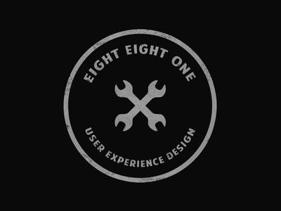 Logo Concept grunge biker wrench spanner design ux logo