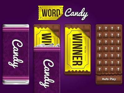 Chocolate Game Concept Artwork iphone tablet android ios game sweet candy chocolate