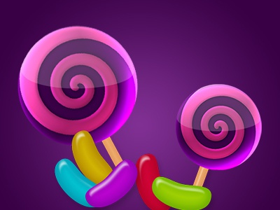 Sweet Game Elements tablet mobile android ios candy icons game beans sweets