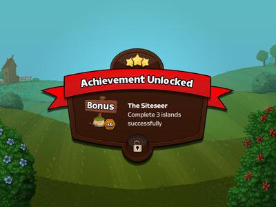Achievement Unlocked  ribbon android ios icon game achievement
