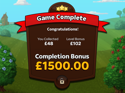Game Complete stars ribbon android ipad iphone ios up pop modal complete game