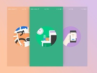 Wellness App Onboarding Screens