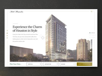 Landing Page - Hotel Allesandra freelance visual design photoshop landing page