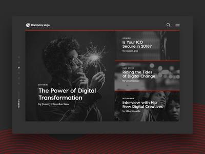 Blog Posts Concept black and white blog grid layout visual design monochromatic ux ui