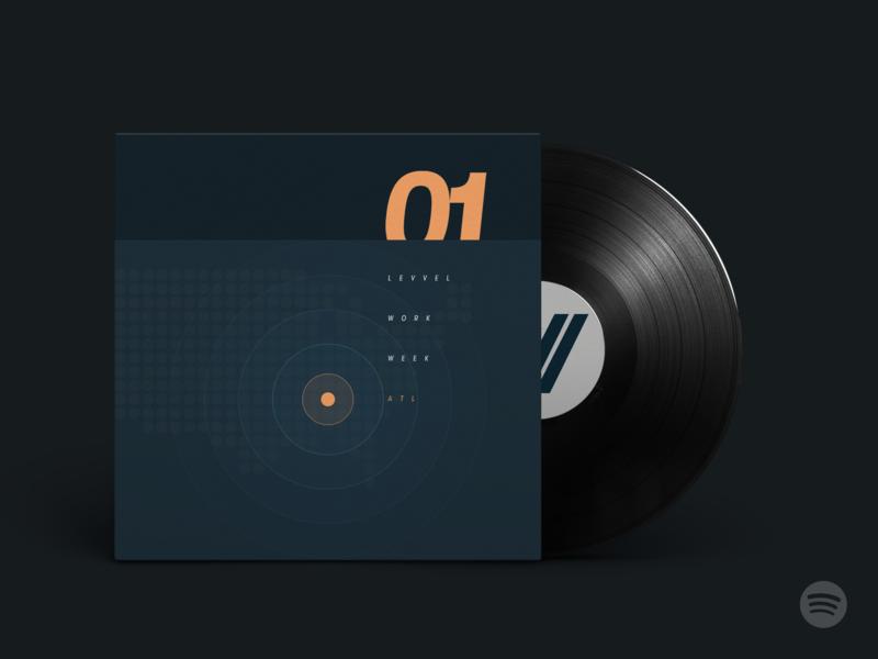 Levvel Work Week: Vol.1 - Atlanta (Spotify Office Mix) atlanta album covers typography rip roarin beats electronic music mixtape spotify