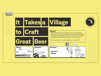 Lemonstreet Brewing Company florida brewery brewing beer lemonstreet memphis brutalist micro-interactions illustration webflow