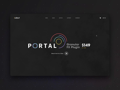 PORTAL   Landing Page Interactions prototyping music animation visual design ui principle