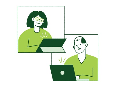 Member Clinics Graphic video chat care patient doctor tablet computer man people health woman vector design illustration