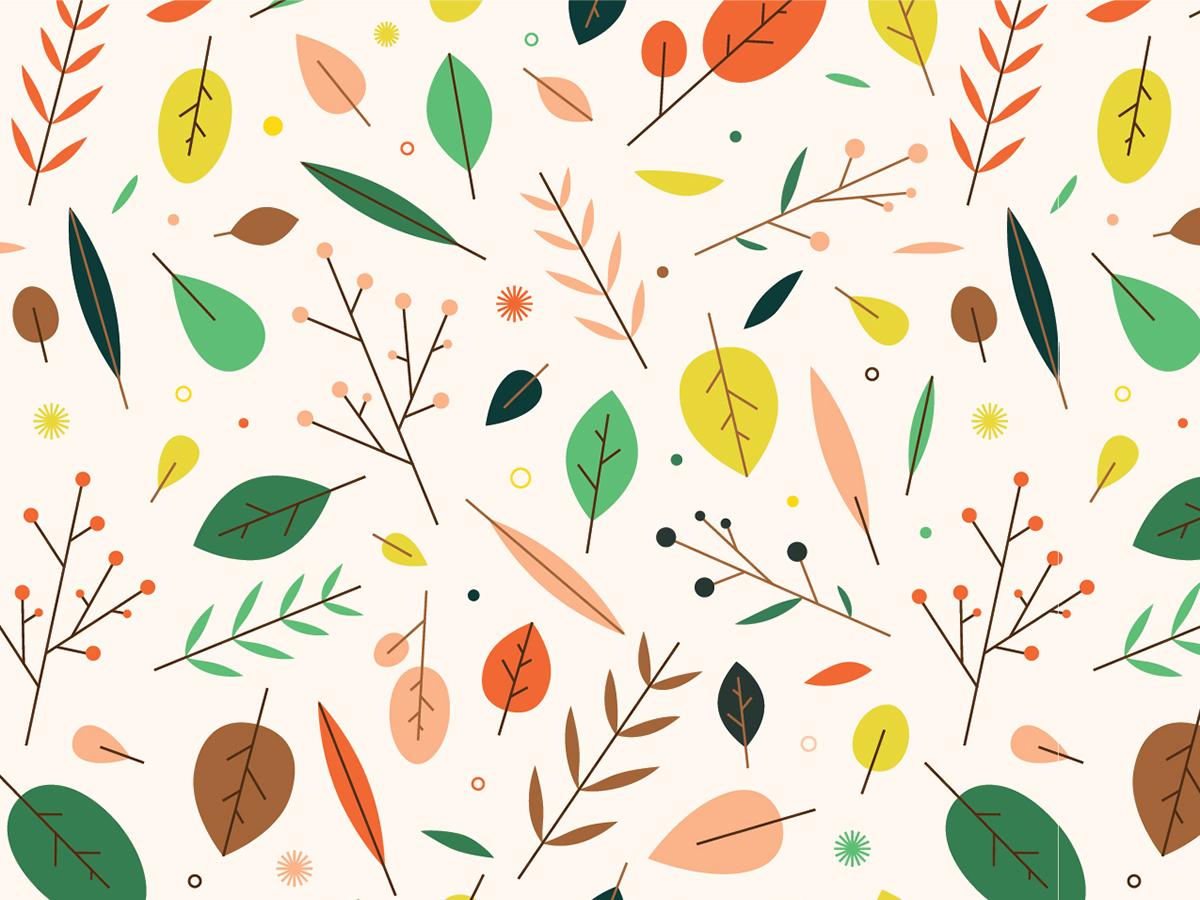 Fall Leaves Pattern by Rachel Beyer on Dribbble