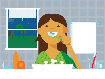 Brushing Teeth Before Bed