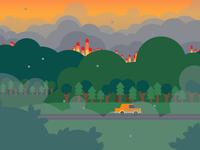 Wildfire Background