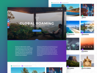 Cartphone global roaming web page