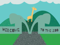 Welcome to the Zoo m typehue gates giraffe zoo
