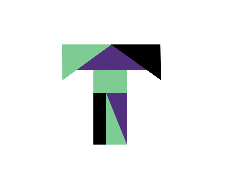 T Is For Tanagram letters shapes tanagram t typehue