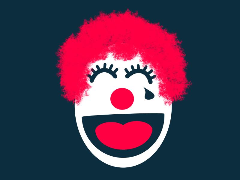 Zero Laughs typehue clown scary zero 0